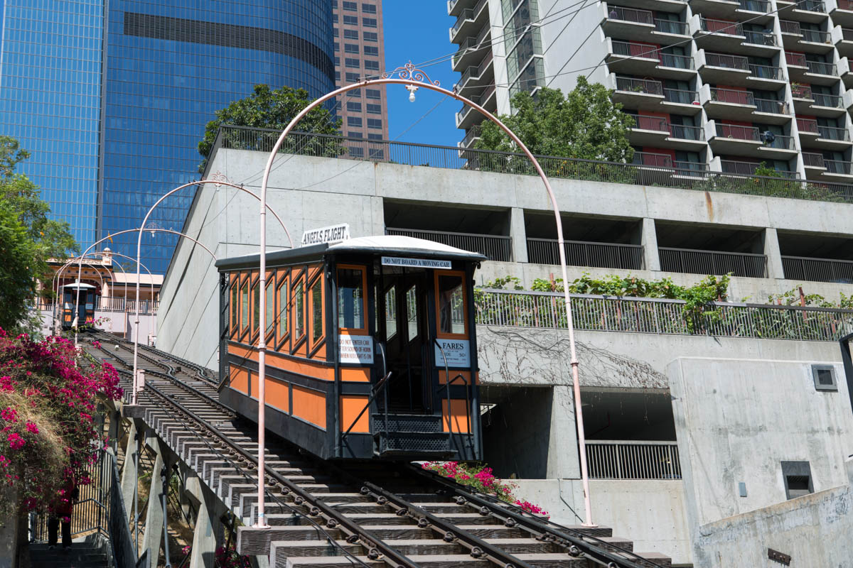 Angels Flight in Los Angeles downtown