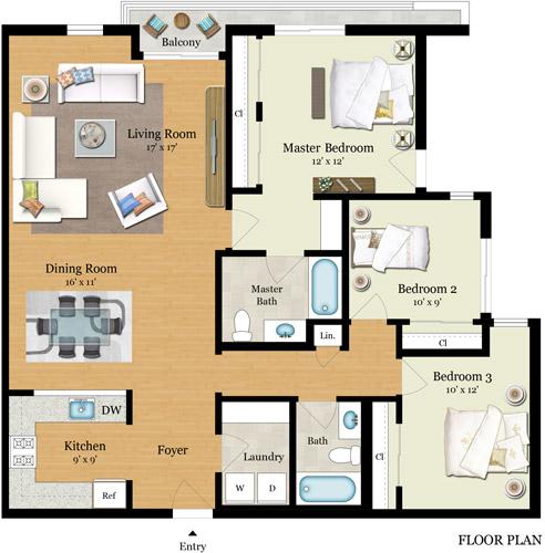 Element 436 Floor Plans - Residence A