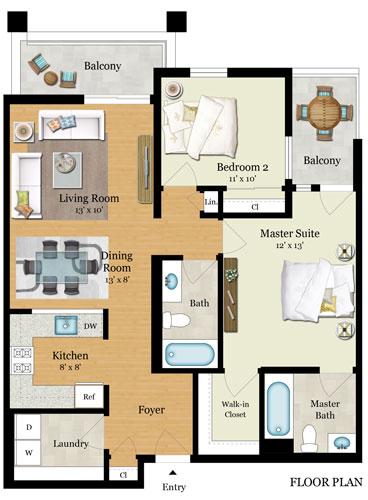 Element 436 Floor Plans - Residence C