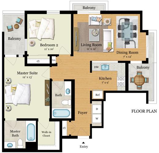 Element 436 Floor Plans - Residence D