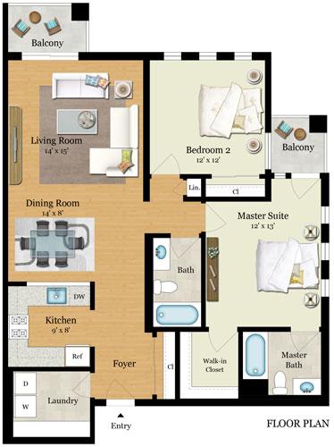 Element 436 Floor Plans - Residence F