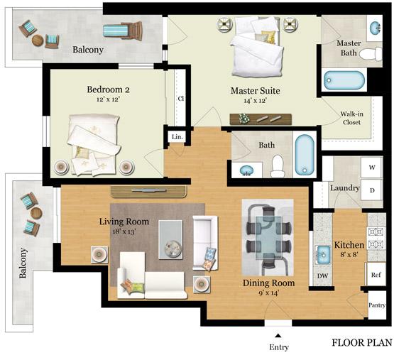 Element 436 Floor Plans - Residence E
