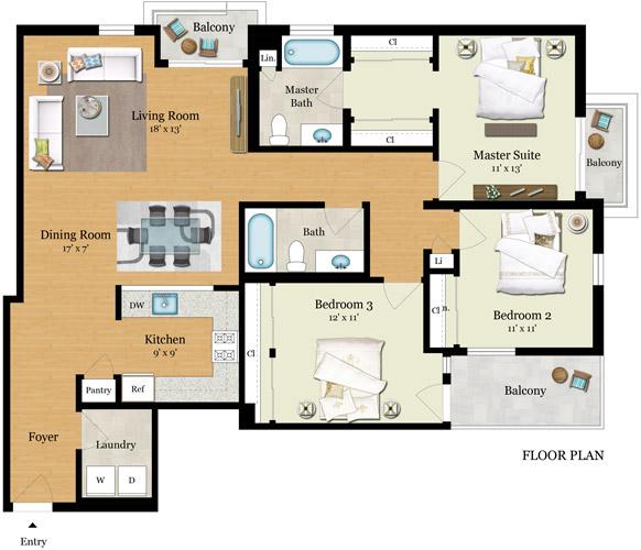 Element 436 Floor Plans - Residence B